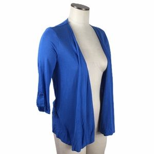 4/$25 New Directions Blue Open Front Cardigan Sm